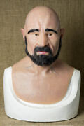 Leon Silicone Mask Old Man Hand Made, Halloween High Quality, Realistic,