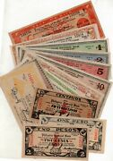 Philippine National Bank Iloilo Banknotes Collection Lot Ww2 All Different Nr