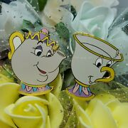 Mrs. Potts And Chip From Beauty And The Beast - 2 Pins Disney Pin - Tokyo Disney