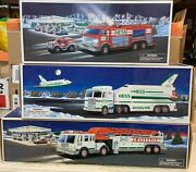 Lot Of 3 Hess Trucks Toys... Fire Truck Space Shuttle And Rescue Truck Look