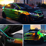 Holographic Rainbow Diy Chrome Car Vinyl Wrap Air Bubble Free Decal Sticker Film