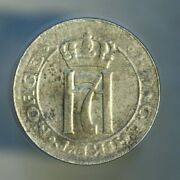 Norway 1920 2 Ore Nice Grade But Spot On Obverse A596