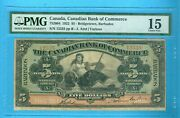 Can-note 5 Note Can Bk Of Commerce,1922,ref752004,pmg-15