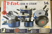 T-fal Cook N Strain 14 Piece Non Stick Thermo-spot Cookware Pots And Pans