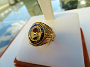 U.s. Army Ordnance Department 10k Yellow Gold Ring Grouse 12.4 Grams Size 8.75