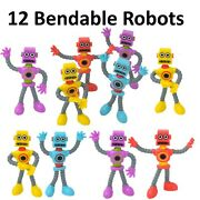 12 Bendable Robots -boys Birthday Party Favors, Kid Party Supplies And Decorations