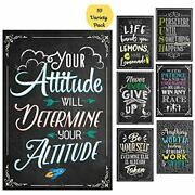 10 Laminated Motivational Classroom Posters Quotes Decorations Homeschooling And