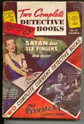 Two Complete Detective Books 29 11/1944-george Gross Bloody Violent Cover-cl...