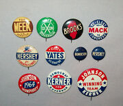 Vtg 1960s Political Buttons Pinback 11 Mostly Illinois Yates Meeks Dixon Hershey