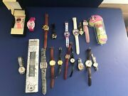 @@ Vintage Classic Disney Mickey And Minnie Mouse 19 Watch Lot