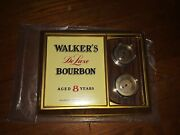 Vintage Walkers Deluxe Bourbon Sign Really Cool 12 Inches Wide 9 Inches High