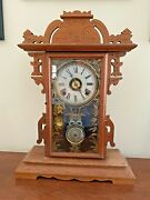 Antique 8-day Parlor Clock By E. N. Welch Clock Co., Forestville, Conn - 1890