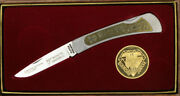 Schrade Boy Scout Diamond Jubilee 75th Anniversary Brass Inlay Scout Knife