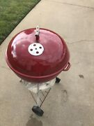 Vintage 1970s Weber Red Kettle Grill 22andrdquo