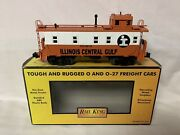 ✅mth Railking Illinois Central Gulf Lighted Caboose 30-7787 For Diesel Engine