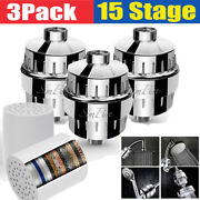 3 Pack 15 Stage Shower Head Filter For Hard Water -reduces Dry Itchy Skin