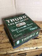 Antique Hardware Store Thuro Lubrication Parts Cabinet, Counter Top