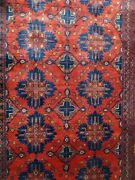 4x6 Khal Momadi Special Weaving Technique Handmade Red Bold Patterns Rug