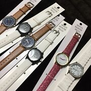Lot Of 6 Fashion Watches - Need Batteries Silicone, Faux Leather, Sparkle Bands
