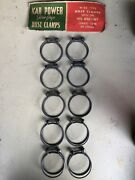 10 Vintage Nos Kar Power Twin Grip Two Wire Hose Clamps No Box. 1.5andrdquo