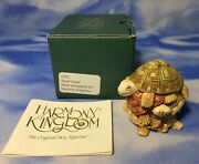 New Retired Harmony Kingdom Andldquoshell Gameandrdquo Turtle Stack Box Figurine Tjtu Nib