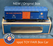 Lionel Toy Fair' 1996 Boxcar Rare By Former Lionel Dealer. Free Shipping