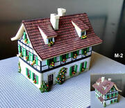 M2 Built Up Small Chalet Building 40 Mm X 25 Mm 1.6 X 1 For Noch Z Layout