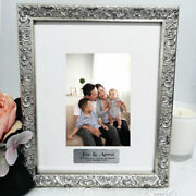 Godparents Personalised Ornate Silver Photo Frame Louvre 4x6 - Personalised C...