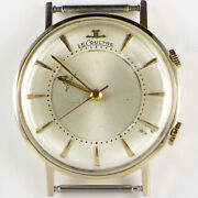 Vintage Jaeger-lecoultre Memovox Alarm 14k Yellow Gold Menand039s Watch