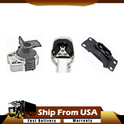Anchor Rear And Front Engine Mount And Trans Mount Kit 3pcs For Ford Focus 2.0l