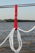 4 Pk Boat Railing Straps Holds Rope On Boat Accessories Red Free Shipping