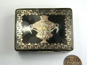 Antique Georgian French Natural Shell Gold And Silver Pique Urn Patch Box C1780