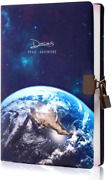 Planet Locking Journal For Boyskids Lock Diary With Keyspu Leather Cover Jour
