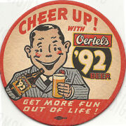 Vintage Oertels Beer Ad Reproduction Metal Sign Free Shipping Bar Decor
