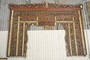 Ornate Balinese King Size Hand-carved Sculptural Headboard