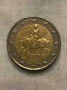 2 Euro Greek Coin 2002 - Rare With The S On The Middle Star