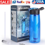 Water Filter Bottles With Integrated Filter Straw For Hiking Backpacking Andtravel