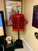 One Of A Kind Hand Made Antique Tractor Grill And Base Art/light/neon Clock