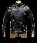Vintage Zone Real Leather Jacket Mens Everyday Streetwear Metal Button / Xs-5xl