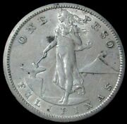 1909 S Silver Philippines Peso Us Administration Coin About Uncirculated