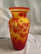 Fenton Glass Vase Camo Kelseybomkamp 11and039and039 Tall Delicious Excellent
