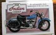 Danbury Mint 1948 Indian Chief Motorcycle 110 Diecast W/papers