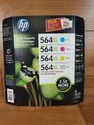 Hp 564xl High Yield Original Ink Photo Cartridges Combo 4 Pack Unopend Expired