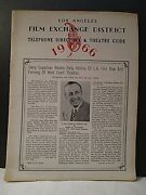 1966 L.a.film Exchange District Movie Theater Guide And Tel Directory Fab Soda Ads