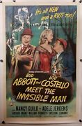 Abbott And Costello Meet The Invisible Man 1951 - One Sheet Movie Poster 27x41
