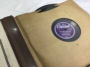78 Record Album Storage With 8 Records, Whiting, Lee, Lombardo, Kyser, Day+