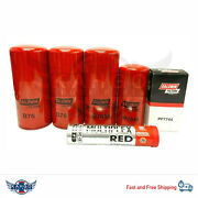Volvo D12 Oil Change Kit B76 Bf7644 B7685 Pf7744 Free Tube Red Grease