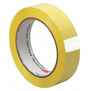 3m Polyester Film Electrical Tape 1318-2, Yellow, 1/2 In X 72 Yd, Paper Core