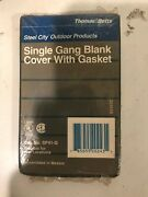Lot Of 28 Single Gang Blank Cover With Gasket