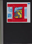 1972-73 Topps Hockey Wrapper In Excellent Condition